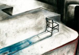chaise au bord du vide